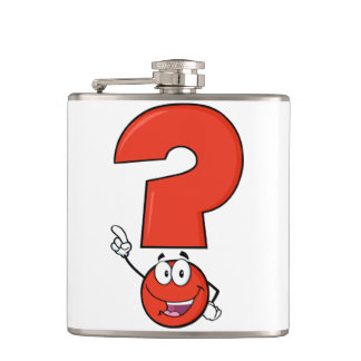 Red Question Mark Flask