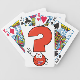Red Question Mark Playing Cards