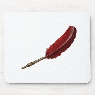Red quill mouse pad