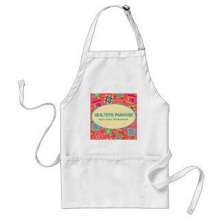 Red Quilt Block Business Apron