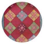 Red Quilt Dinner Plates