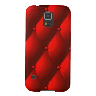 """Red Quilted Faux """"Leather"""" Galaxy S5 Case"""