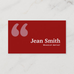 And makeup quotes office school products zazzle red quotes makeup artist business card colourmoves