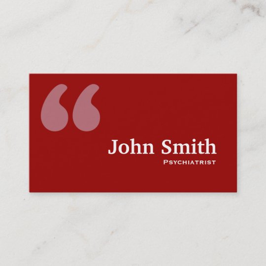 Red quotes psychiatrist business card zazzle red quotes psychiatrist business card colourmoves