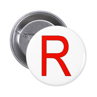 Red R for Rocket Buttons