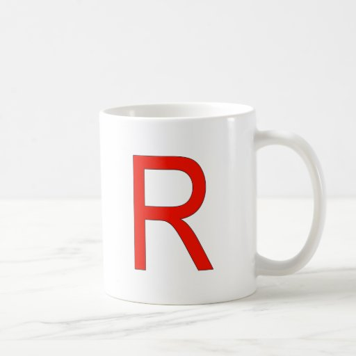Red R for Rocket Mugs