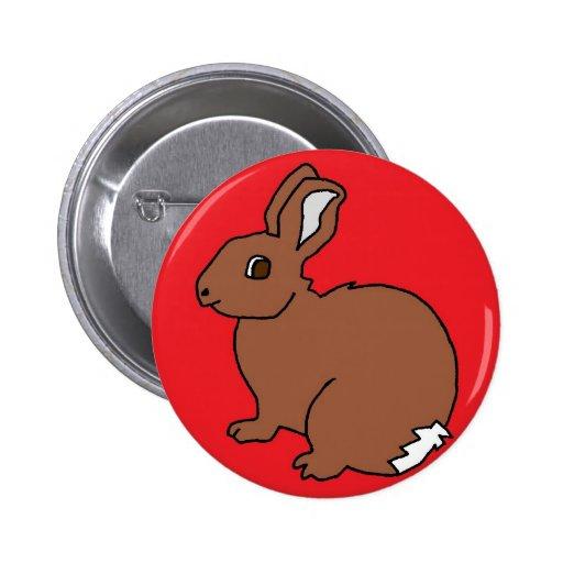 Red Rabbit 2 Inch Round Button