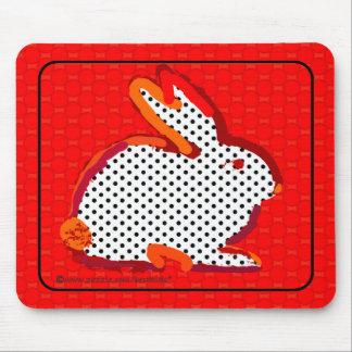 red rabbit digital painting mousepad