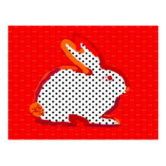 'red rabbit' digital painting Postcard