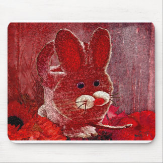 RED RABBIT MOUSE PAD