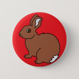 Red Rabbit Pinback Button