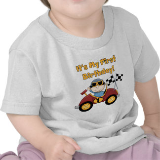 Red Race Car 1st Birthday Tshirts and Gifts