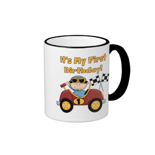 Red Race Car 1st Birthday Tshirts and Gifts Coffee Mug