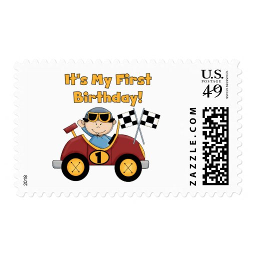 Red Race Car 1st Birthday Tshirts and Gifts Postage