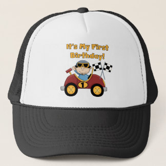 Red Race Car 1st Birthday Tshirts and Gifts Trucker Hat