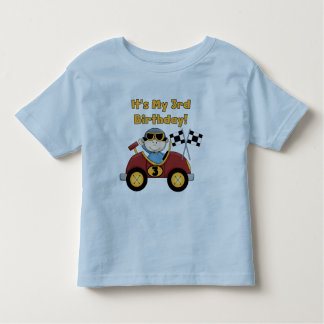 Red Race Car 3rd Birthday Tshirts and Gifts