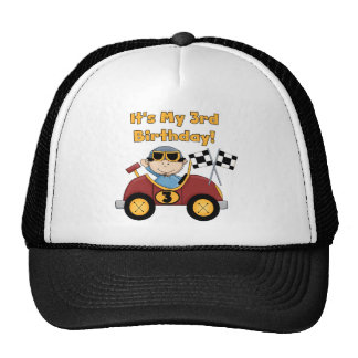 Red Race Car 3rd Birthday Tshirts and Gifts Mesh Hat