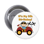 Red Race Car 5th Birthday Tshirts and Gifts Pins
