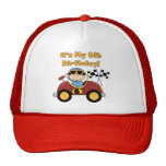 Red Race Car 6th Birthday  T-shirts and gifts Trucker Hat