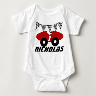 Red Race Car Baby Bodysuit