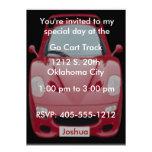 Red Race Car Birthday Invitation