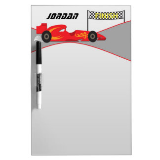 Red Race Car Dry-Erase Board