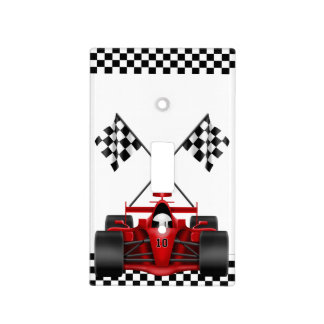 Red Race Car Light Switch Cover