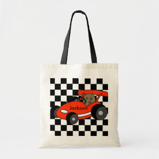 Red Race Car Tote