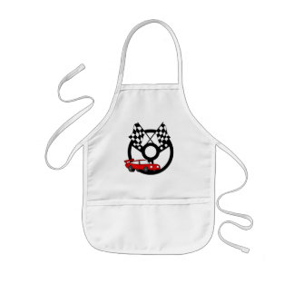 Red Race Car Tshirts and Gifts Kids' Apron