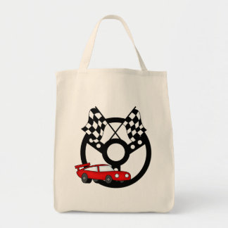 Red Race Car Tshirts and Gifts Tote Bag