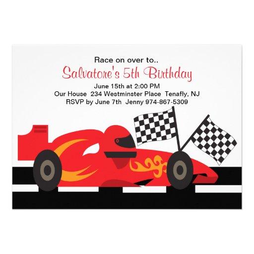 personalized racing car invitations | custominvitations4u, Birthday invitations