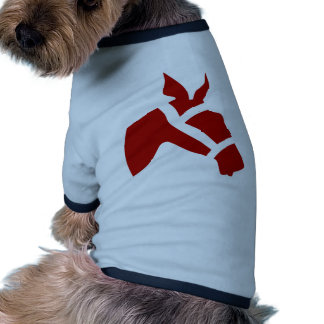 Red Race Horse Head Icon Pet Tee