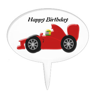 Red Racing Car Birthday Cake Topper
