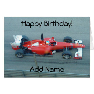 Race Cars Greeting Cards Zazzle