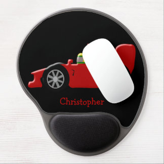 Red Racing Car Just Add Name Gel Mouse Pad
