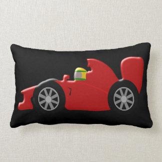 Red Racing Car Lumbar Pillow