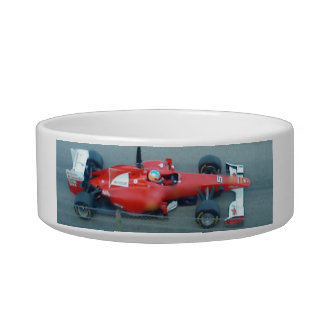 Red Racing Car Pet Bowl