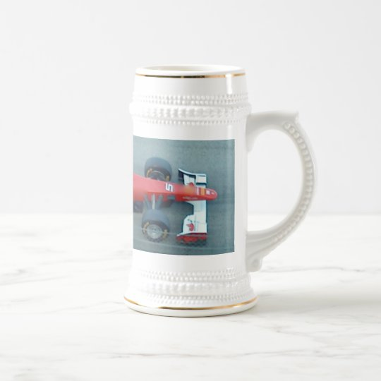 Red Racing Car Stein