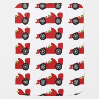 Red Racing Car Stroller Blanket
