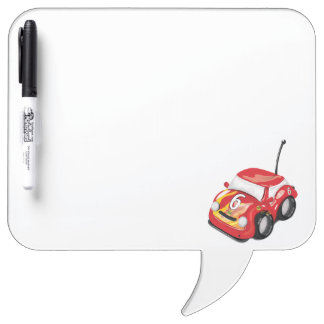 Red Racing Cars Road Race Dry-Erase Board