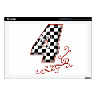 red racing number 4 decals for laptops