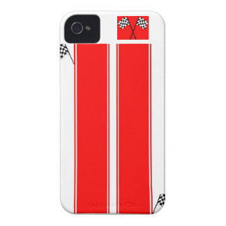 Red Racing Stripe iPhone 4 Cell Phone Case