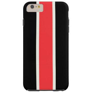 Red racing stripe tough iPhone 6 plus case