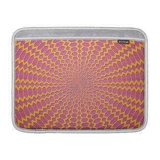 Red radial del oro en diseño rosado fundas macbook air