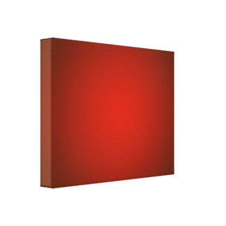 Red Radiant Wrapped Canvas Print