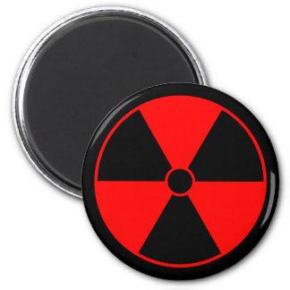 Red Radiation Symbol Magnet
