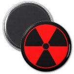 Red Radiation Symbol Magnet Refrigerator Magnets
