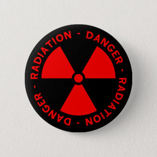 Red Radiation Warning Button