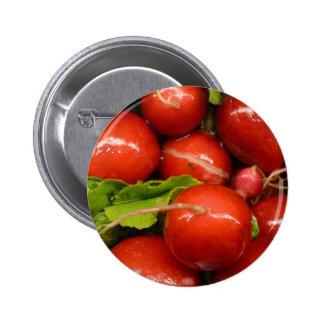 Red Radish Button