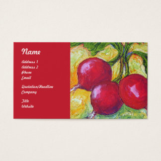 Red Radishes Business Cards